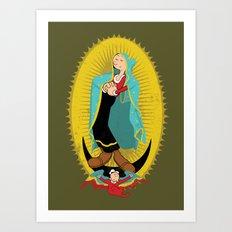Virgin Olive Oyl Art Print