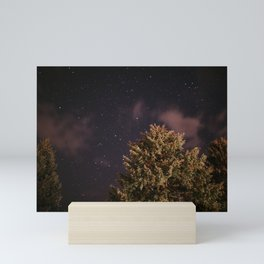 Tree top with stars   Colourful Travel Photography   Schwarzwald, Germany (Europe) Mini Art Print