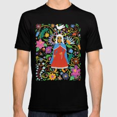 The Blessed Mother MEDIUM Black Mens Fitted Tee