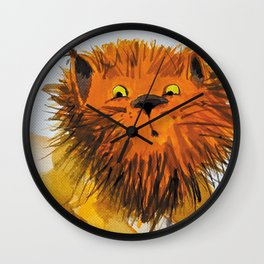 Cats_big cat Wall Clock