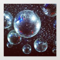 disco Canvas Prints featuring Disco by Elle
