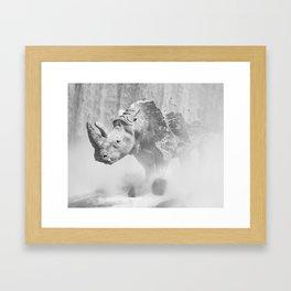 Rhino Photography   Animal    Landscape   Abstract   Niagara Falls   Nature   Black and White Framed Art Print