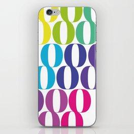 Rainbow Eights iPhone Skin