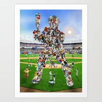 A Whole New Old Ball Game Art Print