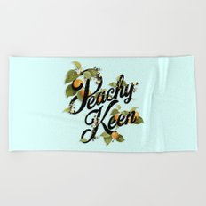 Peachy Keen : Mint Beach Towel