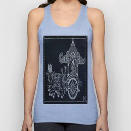 'The Chariot' Wood Work Unisex Tank Top