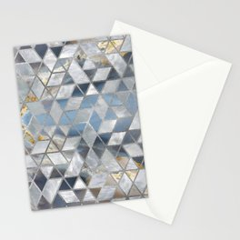 Geometric Translucent Agate and Mother of pearl Stationery Cards