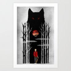 Stiles und der boese Wolf. Art Print