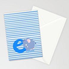 e for elephant Stationery Cards
