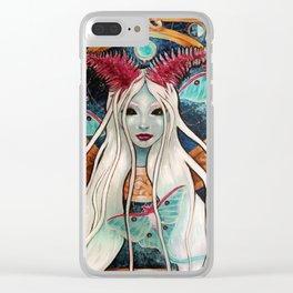 Lady Luna Clear iPhone Case