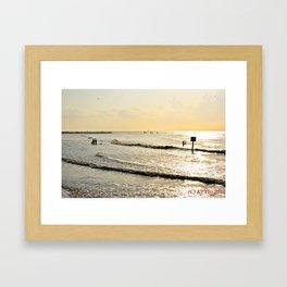 Sunrise at Galveston TX Framed Art Print