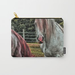 Powder Pink Horses Carry-All Pouch