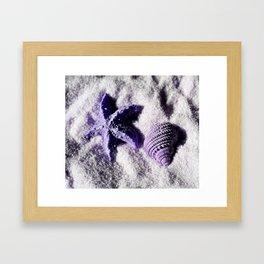 Ocean Life in Lavendar Framed Art Print
