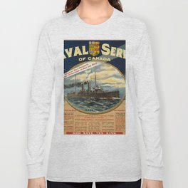 Vintage poster - Naval Service of Canada Long Sleeve T-shirt