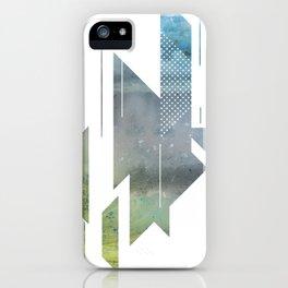 Raging Ocean Triangle Pattern iPhone Case