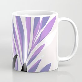 Lavender Olive Branches / Contemporary House Plant Drawing Coffee Mug