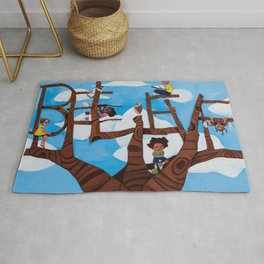 BELIEVE tree Rug