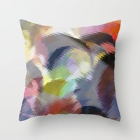 final fantasy Throw Pillows featuring Final Fantasy by Miss Cooper