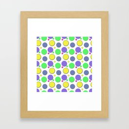 PASTEL CIRCUS CIRCLES  Framed Art Print