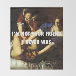 Judith Stopping Holofernes Throw Blanket