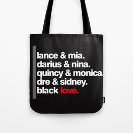 BLACK LOVE. Tote Bag