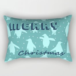 Merry Christmas from the penguins I Rectangular Pillow