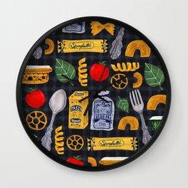 Vintage macaroni pattern Wall Clock