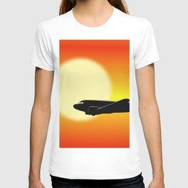 DC-3 passing sun T-shirt