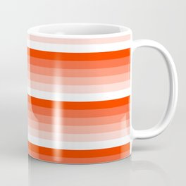 Red and White Ombre Abstract Stripes Coffee Mug