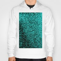 glitter Hoodies featuring Teal Glitter by SimplyChic