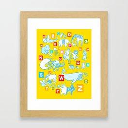 Yellow Alphabet Framed Art Print