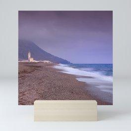 Salinas Beach At Sunset. Mini Art Print