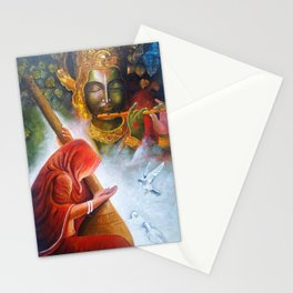 lord krishna with meera Stationery Cards