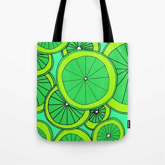 Summer Limes Citrus Art Tote Bag