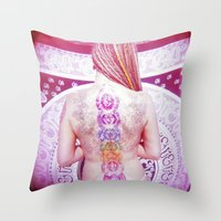 chakra Throw Pillows featuring Chakra Path by Webe Love