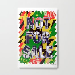 NOT FOR SALE 04 Metal Print