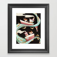 Guided By Fishes Framed Art Print