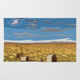Vintage poster - The Oregon Trail Rug
