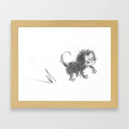 Momo Monkey Framed Art Print