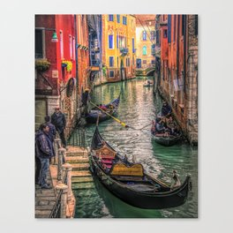 Gondolas at Sunset Canvas Print