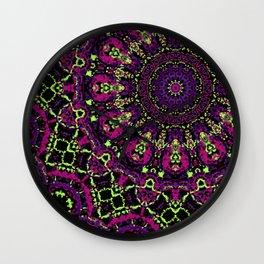 Neon Kaleidoscope 3 Wall Clock