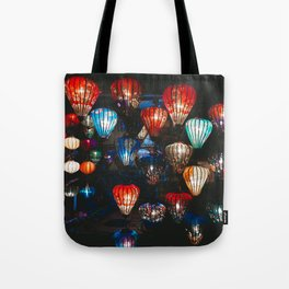 Lanterns in the Night Market, Hoi An, Vietnam Tote Bag