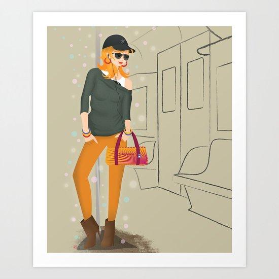 Going downtown #1 Art Print