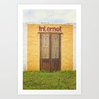 internet Art Prints featuring Internet by Nina's clicks