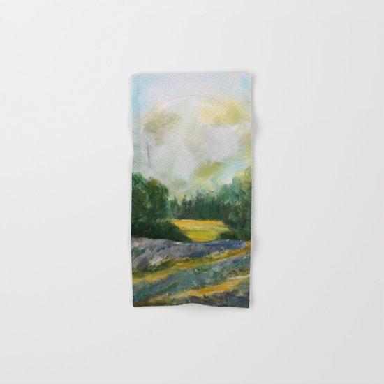 Lavender Field Hand & Bath Towel