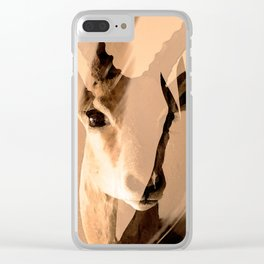Beautiful and fast - Impala portrait Clear iPhone Case