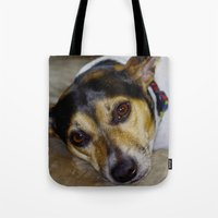 terrier Tote Bags featuring Terrier by Rick Kirby