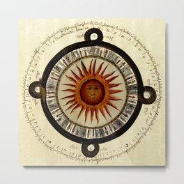 Sun Chart 1790 Metal Print
