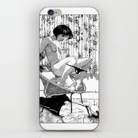 apollonia iPhone & iPod Skins featuring asc 518 - L'immobilisation (The entrapment) by From Apollonia with Love