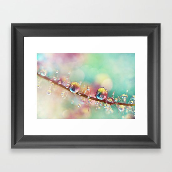 Rainbow Smoke Drops Framed Art Print